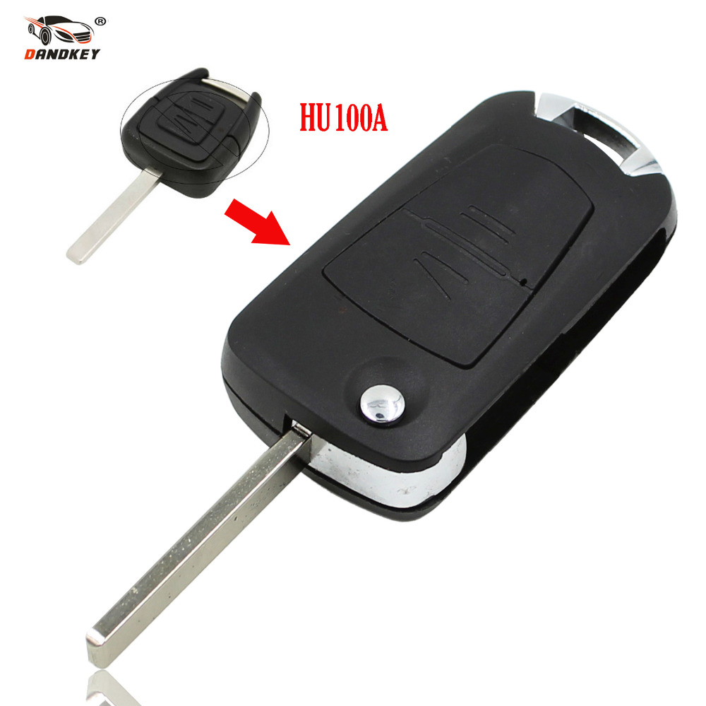 Dandkey New 2 Buttons Folding Remote Key Case For Opel Corsa Astra Kadett Monza Montana Replacement