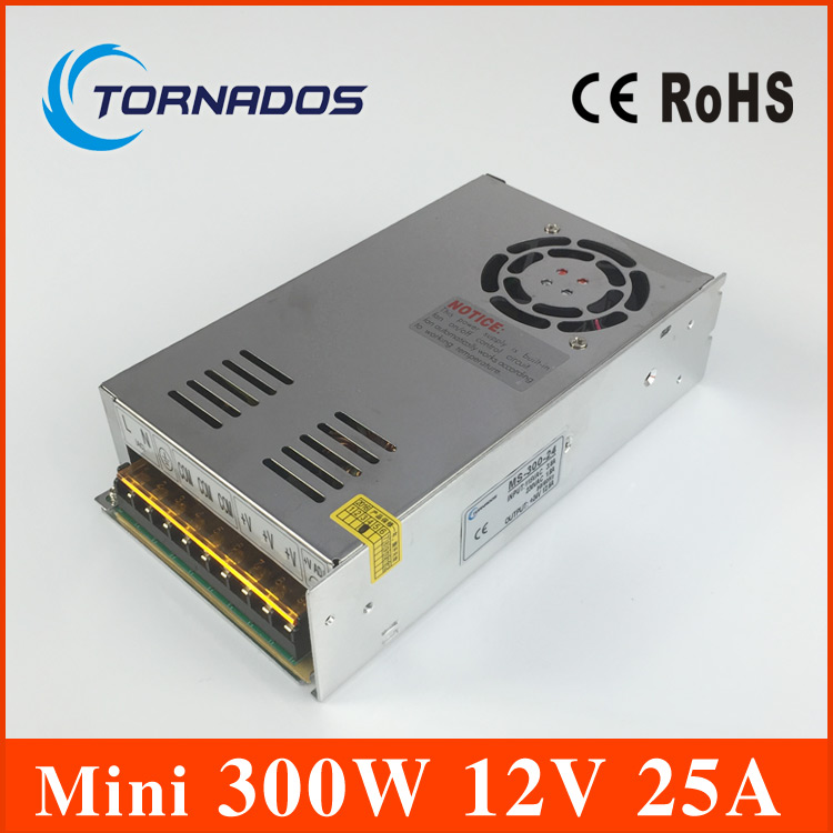 MS-300-12 Switching Power Supply 12V 25A 300W Driver for LED Strip Lights AC 110-220V Free Shipping best quality 12v 15a 180w switching power supply driver for led strip ac 100 240v input to dc 12v