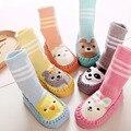 Bebê recém-nascido Engrossar Meias Com Sola Infantil Dos Desenhos Animados Anti-slip Meias Para Recém-nascidos de Inverno Quente Socking CL1022
