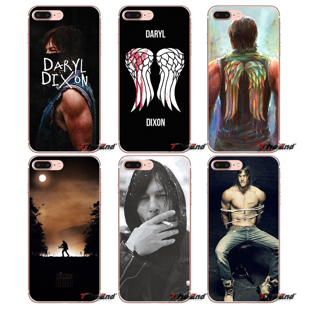 Hybrid TPU PC Cover The Walking Dead Rick Daryl Zombie For Iphone