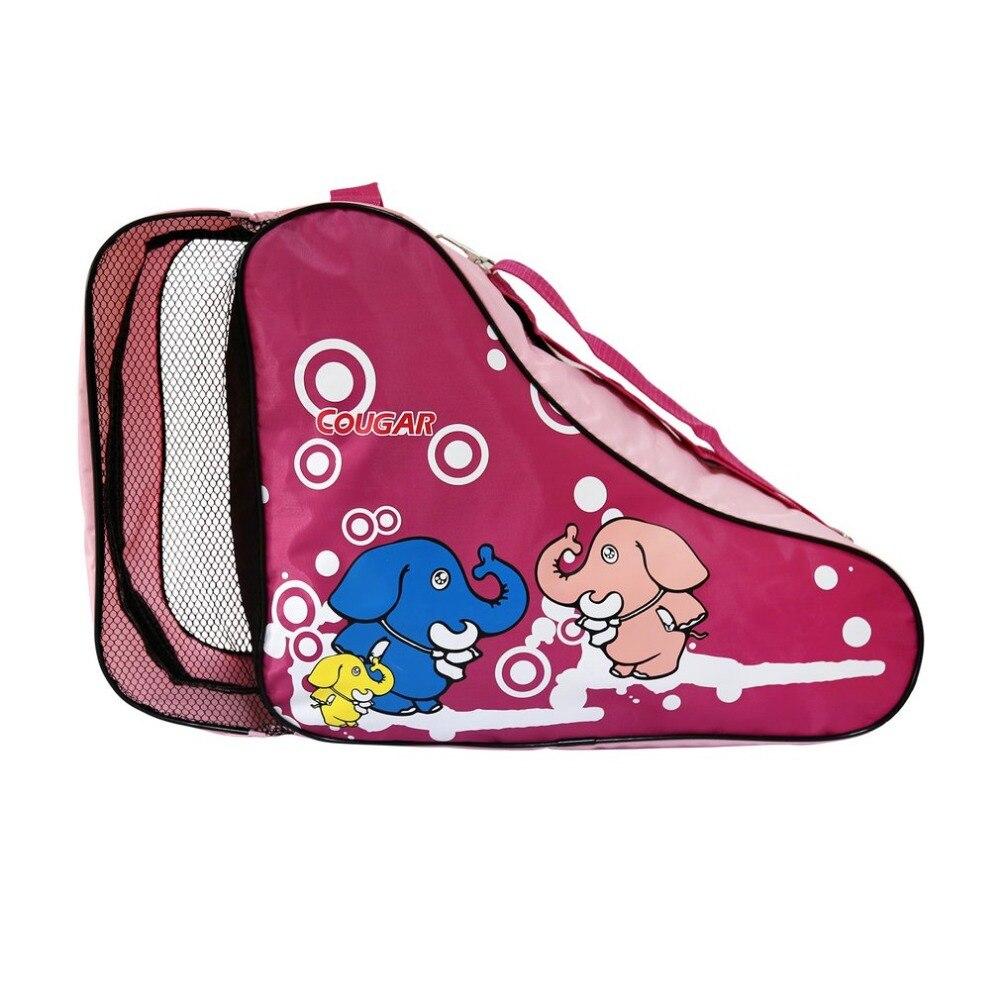New Cute Cartoon Roller Skating Bag Adjustable Shoulder Strap Universal Roller Skating Bag Portable Outdoor Carry Bag Case
