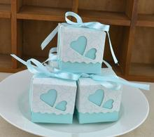 20pcs Red/Pink/Purple/Blue Wedding Candy Box Hollow Heart Paper Gift Party Supply