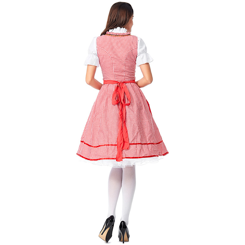 Umorden Women Teen Girls Maiden Dirndl German Oktoberfest Beer Maid Waitress Costumes Cosplay Halloween Carnival Fancy Dress in Holidays Costumes from Novelty Special Use