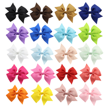 20Pcs/lot 4 Hot Sell Grosgrain Ribbon Hair Bows Clips With Girls Boutique Bow Summer Style Clip Kids Accessories 102