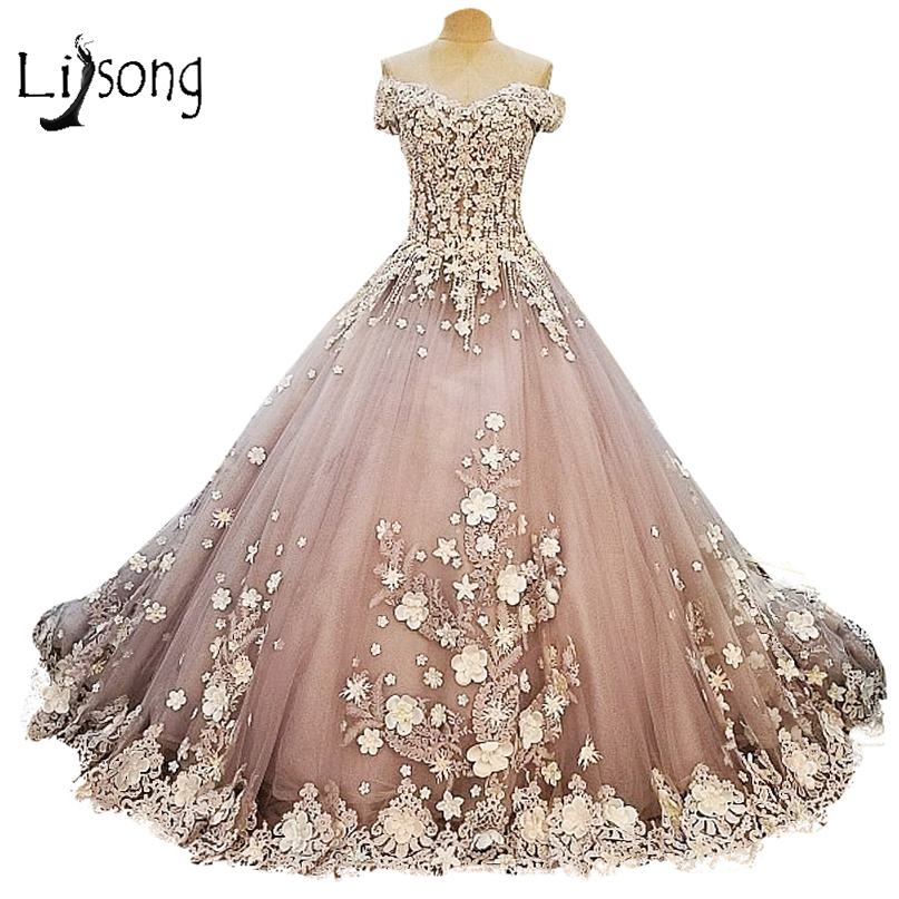 Princess Royal Train Vintage Fl Off Shoulder Wedding Dress Long Liques Bridal Longa Vestidos De Casamento In Dresses From