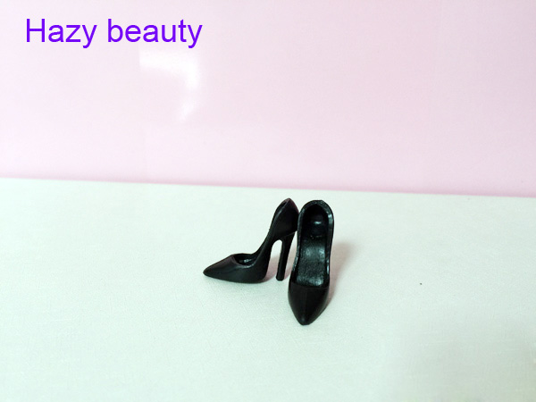 High heels doll shoes black shoes for Barbie Doll Fashion Cute Newest BBI00828