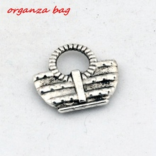 Hot ! 20 pcs  Antique Silver Alloy package Charms DIY Jewelry 14 x 13mm (nm509)