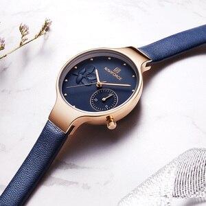 Image 3 - NAVIFORCE למעלה יוקרה חדש לגמרי אופנה נשים שעונים קוורץ גבירותיי ריינסטון שעון שמלת שעון יד נשי מזדמן פשוט שעון