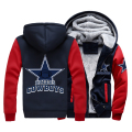 2017 New Foot ball Cowboys Thick Warm Winter Coats Men's Hoodies Sweatshirts Outwear Polo Hoody Sportwear Tracksuits Plus Size