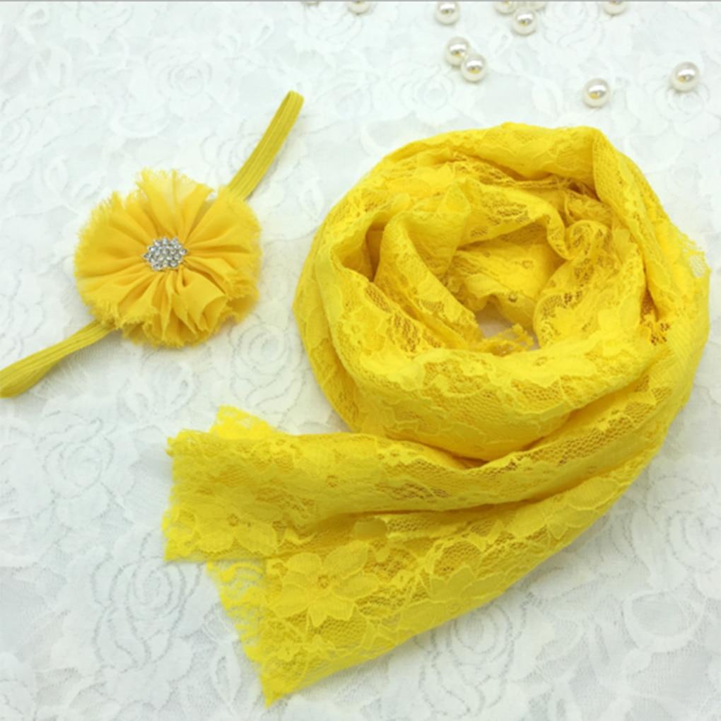 18-farben Spitze Wraps + Blume Stirnband Baby Fotografie Requisiten Neugeborenen Fotografie Wraps Baby Foto Requisiten Zubehör Foto Schießen
