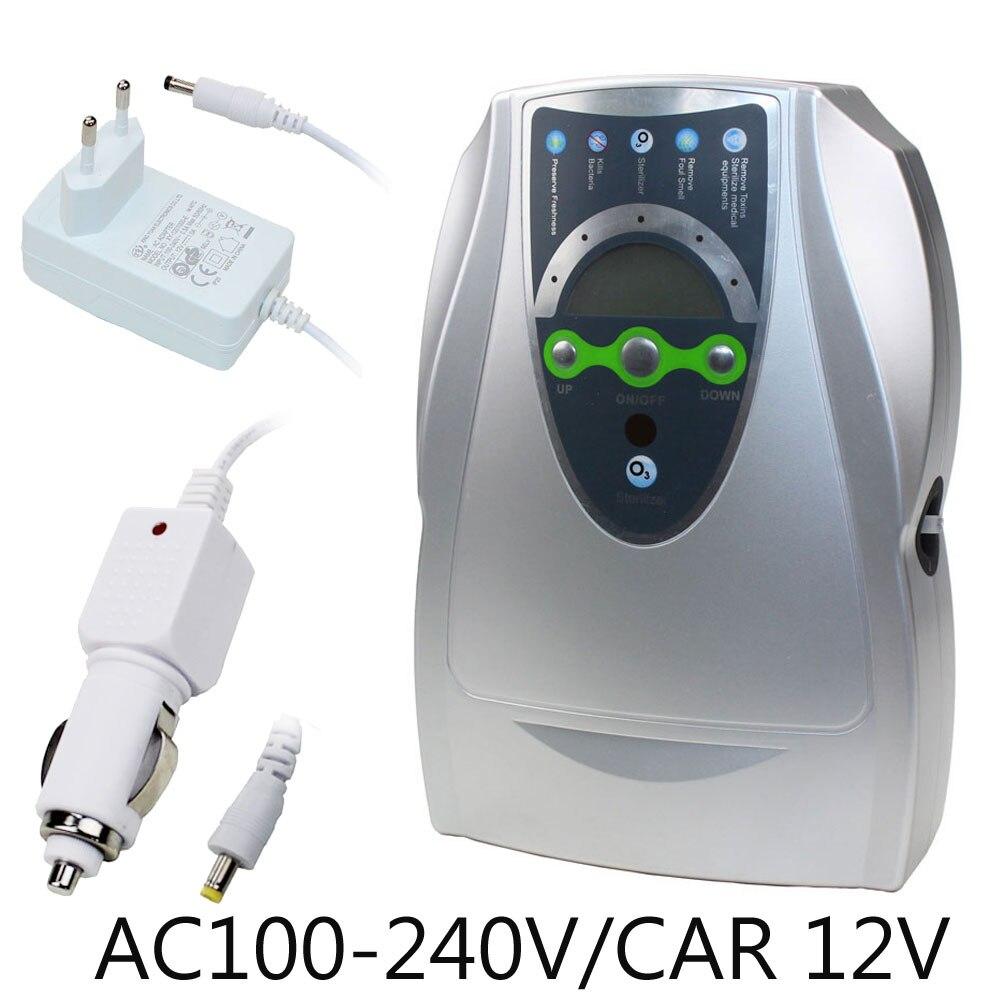 Générateur d'ozone purificateur d'air voiture/maison Bivolt stérilisateur purificateur d'air Purification fruits légumes eau nourriture ozonateur ioniseur