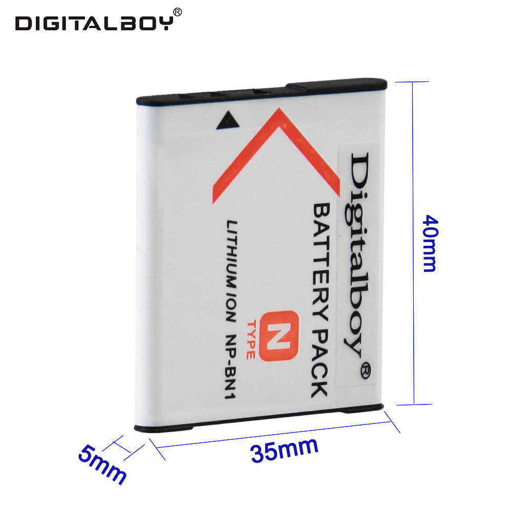 Digital Boy 1PCS NP-BN1 NP BN1 NPBN1 Rechargeable Digital Camera Battery For Sony Cyber-Shot DSC S750 DSC S780 W630 TX5 W310 T99 sony cyber shot dsc wx500 white