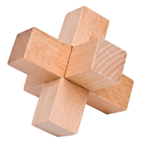 New Cube Mysterious Wooden Classic Genius Puzzles 3D Disentanglement Puzzles Cube Toy Kongming Lock Luban Lock Desk