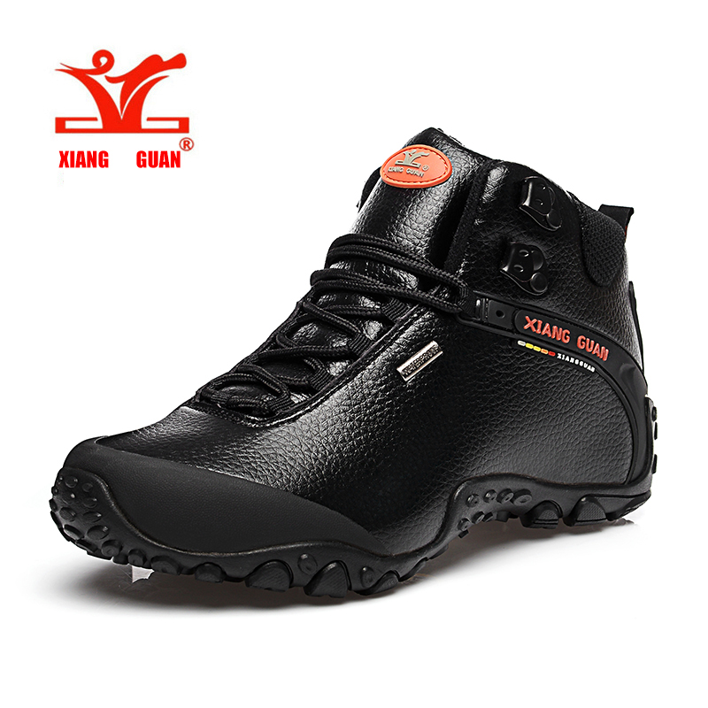XIANGGUAN Man Hiking shoes outdoor sneaker climbing High Leather mountain sport trekking tourism boots botas waterproof 36-45 xiangguan man hiking shoes men waterproof trekking boots green breathable sport mountain climbing shoe outdoor walking sneakers