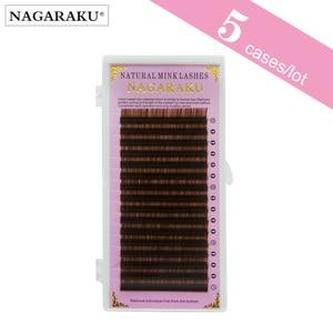 Image 1 - NAGARAKU pestañas postizas de visón sintético Natural, 5 cajas, Color marrón