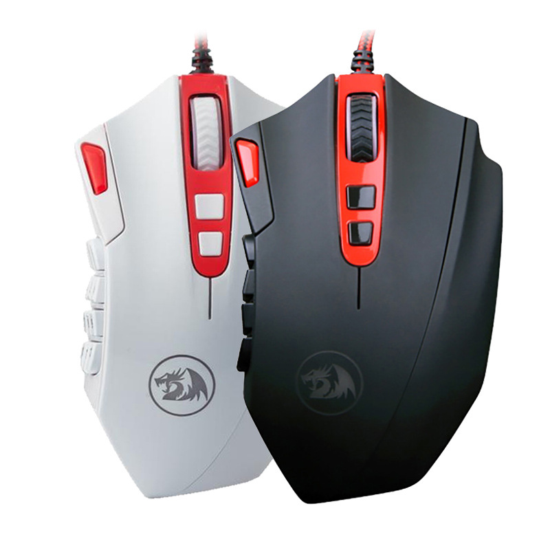 REDRAGON 16400DPI Professional Adjustable Wired Gaming Mouse 18 Programmable Buttons Gaming Mouse for PC Laptop Computer Mouse dare u wcg armor soldier 6400dpi 7 programmable buttons metab usb wired mechanical gaming mouse