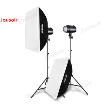 Godox 400Ws Strobe Studio Flash Light Kit 2pcs 200Ws Photographic Lighting - Strobes, Light Stands, Triggers, Soft Box CD50