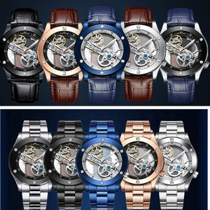 Image 3 - Tevise Automatic Watch Men Mechanical Watches Hollow Skeleton Self Winding Male Sport Wrist Watch Relogio Masculino 2019 New
