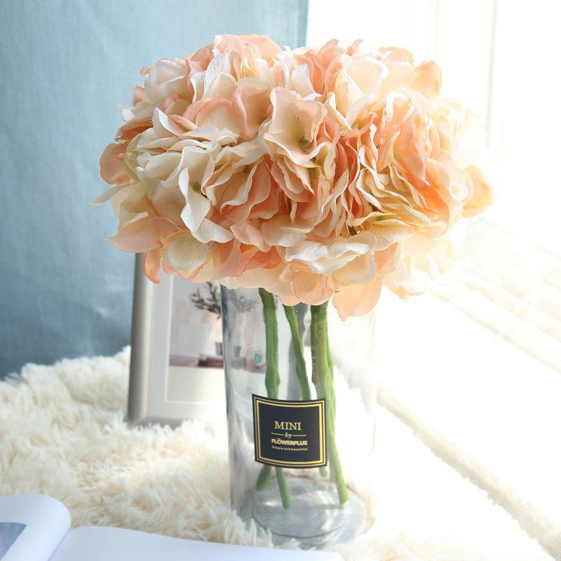 Artificial Hydrangea Silk Flower DIY Dekorativ Blom Bouquet Diy - Semester och fester - Foto 5