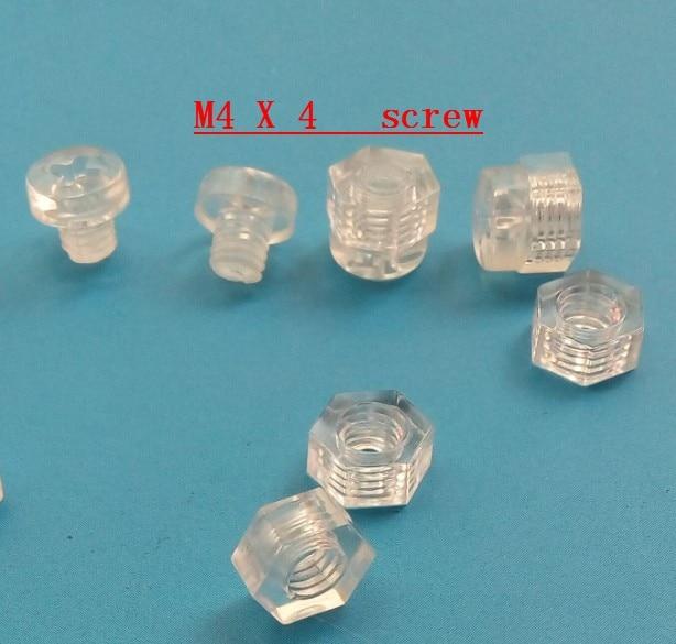 50 x Crosshead Countersunk Screws Nuts and bolts Acrylic Plastic Screws Transparent Clear Plastic Acrylic M3 x 16mm 1//8 x 5//8