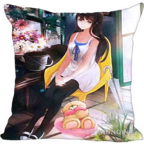 Custom Pillowcase Cover Sexy Anime Girls Square Zipper Pillow