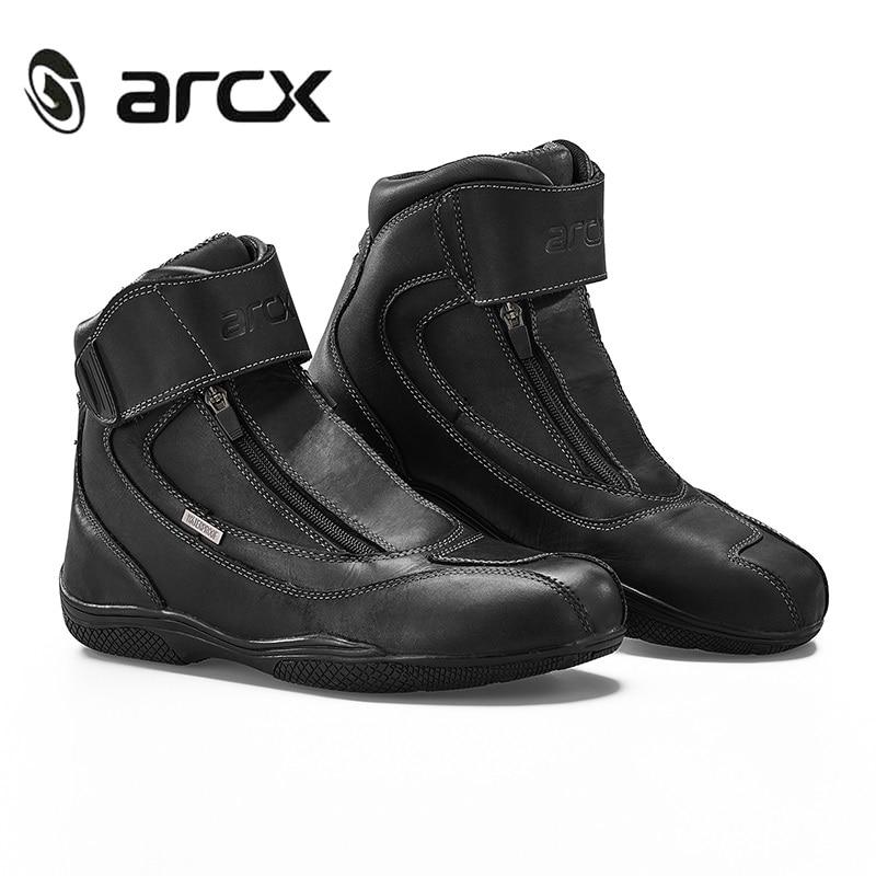 ARCX moto rcycle Stiefel Echte Kuh Leder Wasserdichte moto botas Racing Stiefel moto rboats Chopper Cruiser Touring moto schuhe