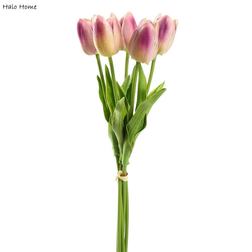 1 Bunch Artificial Flower Light Purple Tulip Party Public places Celebrations Home Garden Wedding Festival Decor