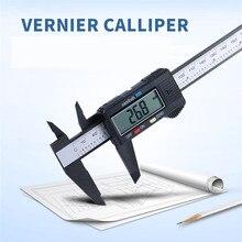On sale 1pc Measuring Tool 0-150mm 6 Inch Plastic LCD Digital Electronic Carbon Fiber Vernier Caliper Rule Gauge Micrometer