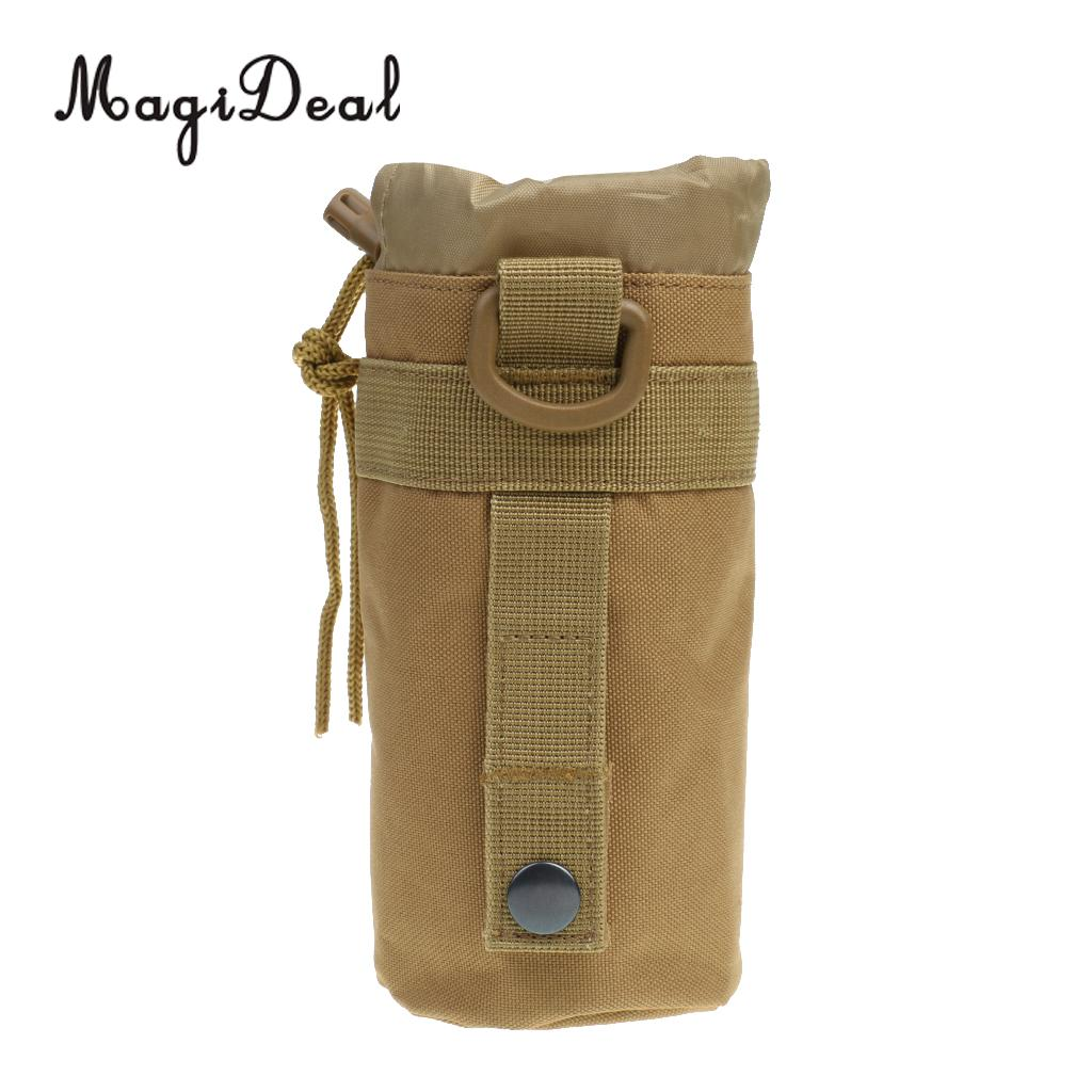 Outdoor Tactical Military Molle Water Bottle Bag Kettle Pouch with Side Pocket