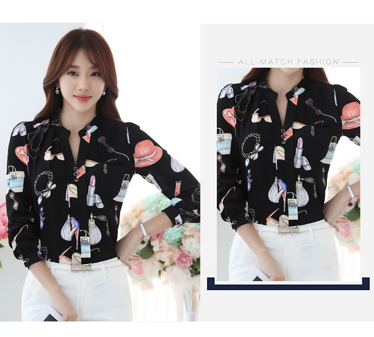 HTB1It.SOXXXXXbVXFXXq6xXFXXXX - FREE SHIPPING Women Floral Chiffon Blouse  Work Office JKP116