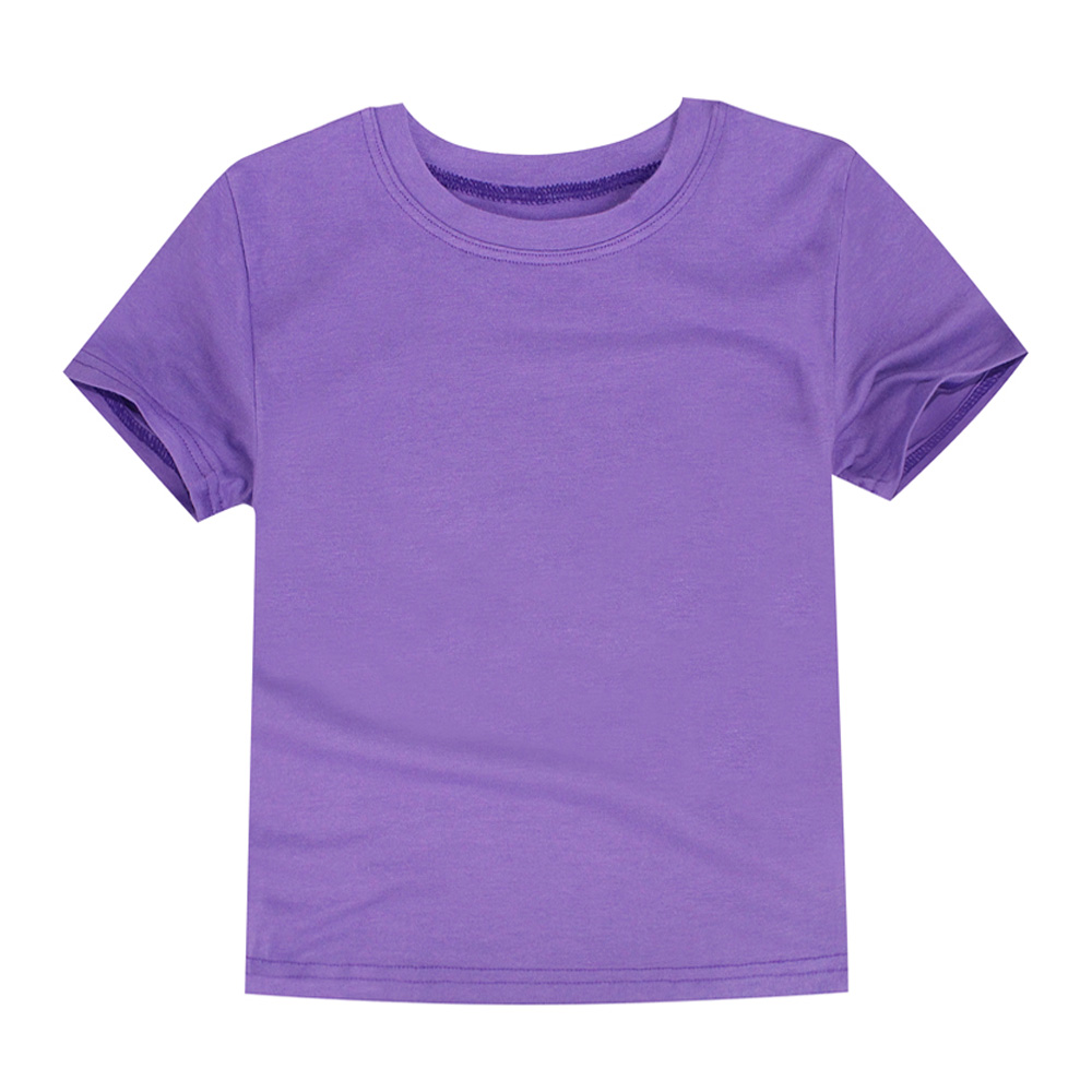 NEW Baby Kids Boys Girls Short Sleeve 100/%Cotton T-Shirt Plain Tee Tops 2-14Y