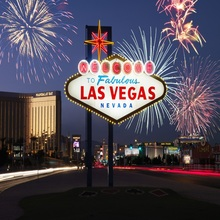 Laeacco Welcome To Las Vegas Fireworks Night Sky Scenic Photography Backgrounds For Photo Studio Vinyl Custom Backdrops