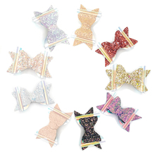 Baby Girls Glitter PVC Bow Clips  Luxe Headbands 9Colors  Hair Bow Clip Baby Hair Accessory Kidocheese 12Pcs/lot недорого