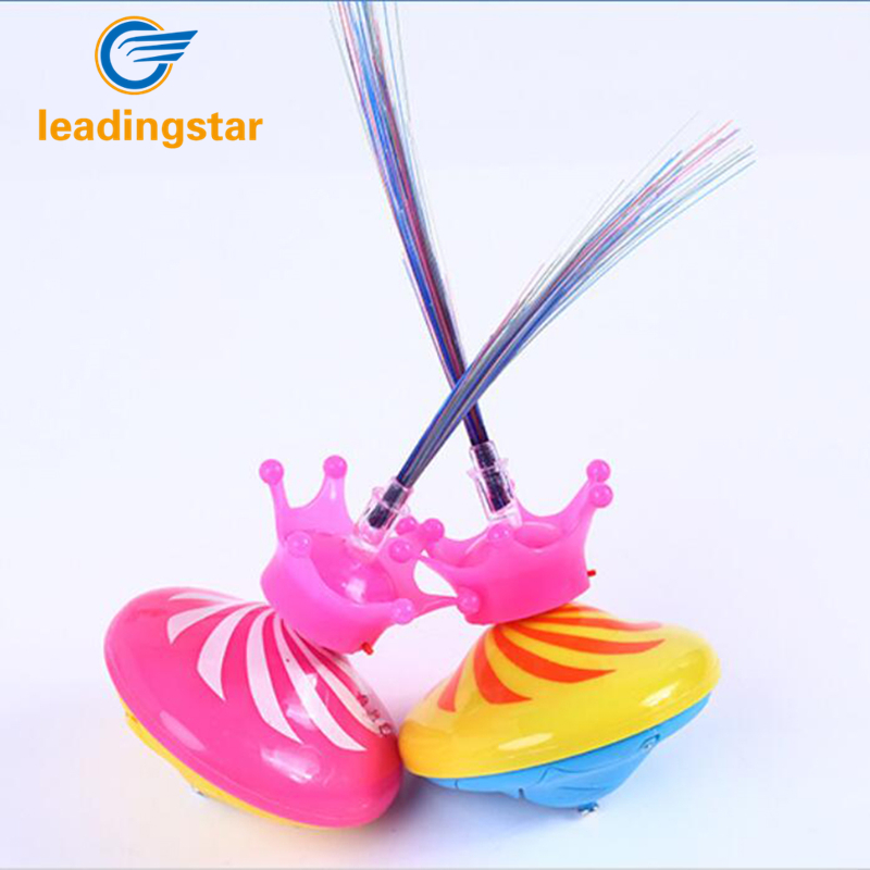 LeadingStar Creative Crown Gyro with LED and Music Flashing Spinning Toy Dazzling Electric Peg-top Gift for Kids Random Color