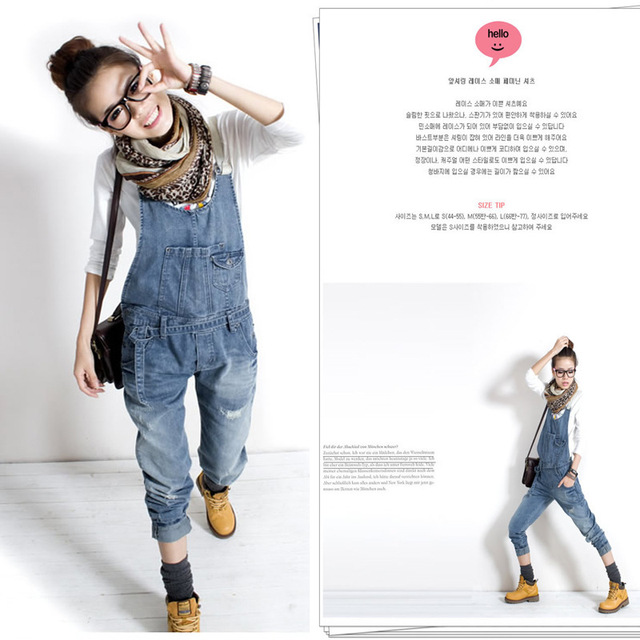 HOT New Fashion women's overalls trousers,Plus sizes women's casual jeans denim suspenders pants jumpsuit free shipping J303