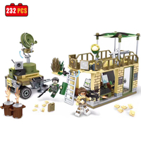 232 PCS WW2 The Taierzhuang Campaign Building Bricks Army Japanese Army Figures Building Block Set Military
