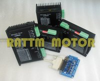4Axis High Quality CNC Stepper Controller kit 80VDC/6A /256 Microstep for CNC Router Mill & 5 Axis Interface Board RATTM MOTOR