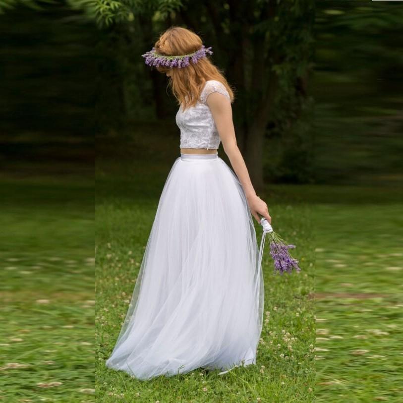 Trendy Soft Tutu Woman Tulle Skirt Long White Skirt A-Line High Quality Party Wedding Skirt Custom Made Free Shipping