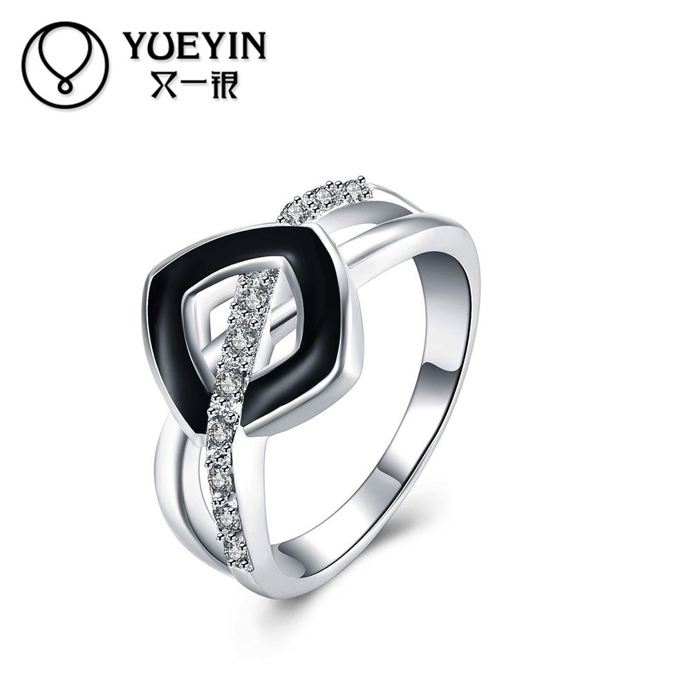 Fashion Silver plating finger rings for lady wedding ring couple ...