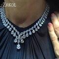 ZAKOL Nueva Marca Cubic Zirconia Diamante Simulado Pendientes Y Collar de La Joyería de la Cena de La Boda Vestido de Encargo de la Fábrica FSSP306