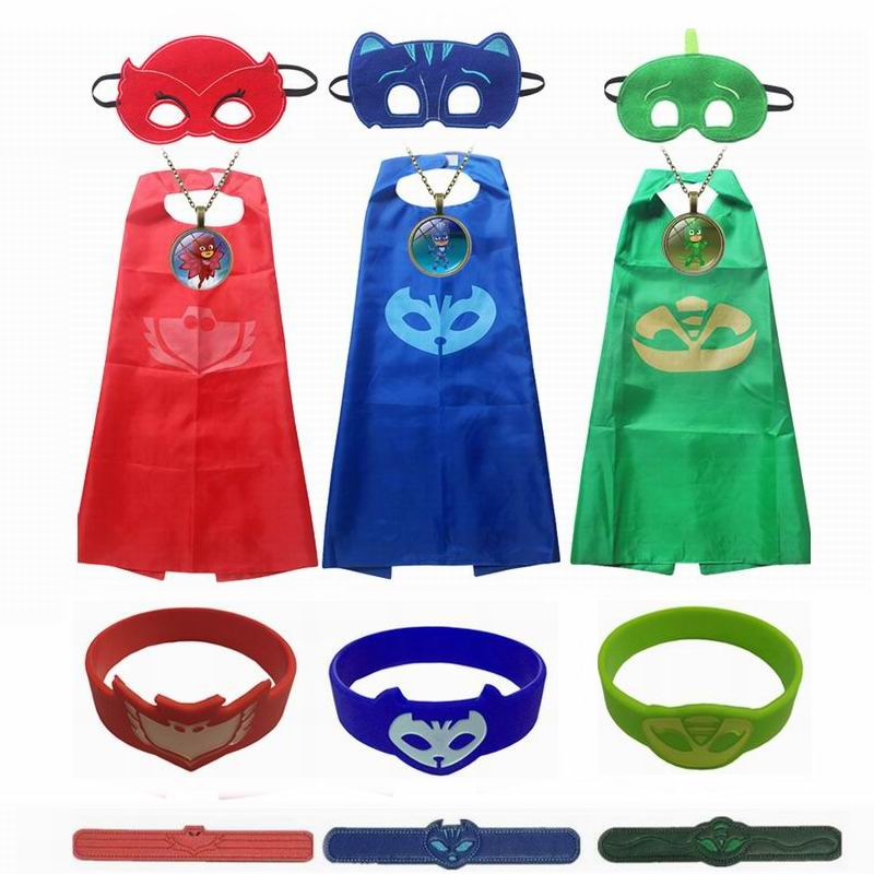 Pj Boy smasks Cosplay Costumes Catboy Owlette Gekko Halloween Kid Party Dress BoBo Choses Children Clothing Superhero Cape Masks