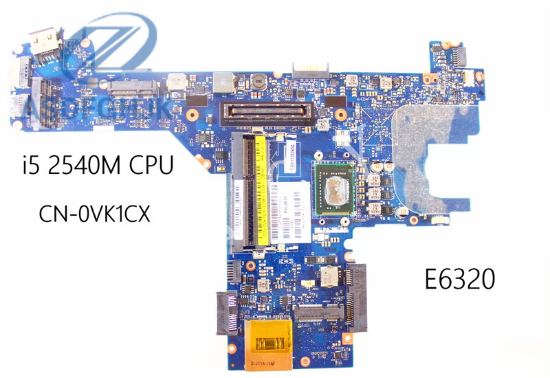 For Dell Laptop E6320 Laptop Motherboard 0VK1CX  CN-0VK1CX LA-6611P W i5 2540M CPU 100% Test okFor Dell Laptop E6320 Laptop Motherboard 0VK1CX  CN-0VK1CX LA-6611P W i5 2540M CPU 100% Test ok