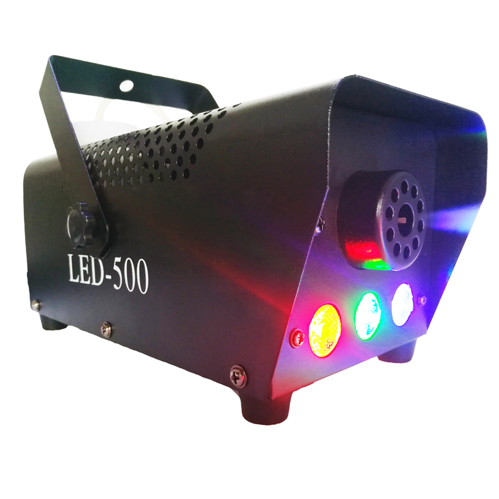 Mini Fog Machine Portable Fog Smoke Machine Halloween and Party Fog Machine with Remote Control and RGB LED Lights 400 Watt