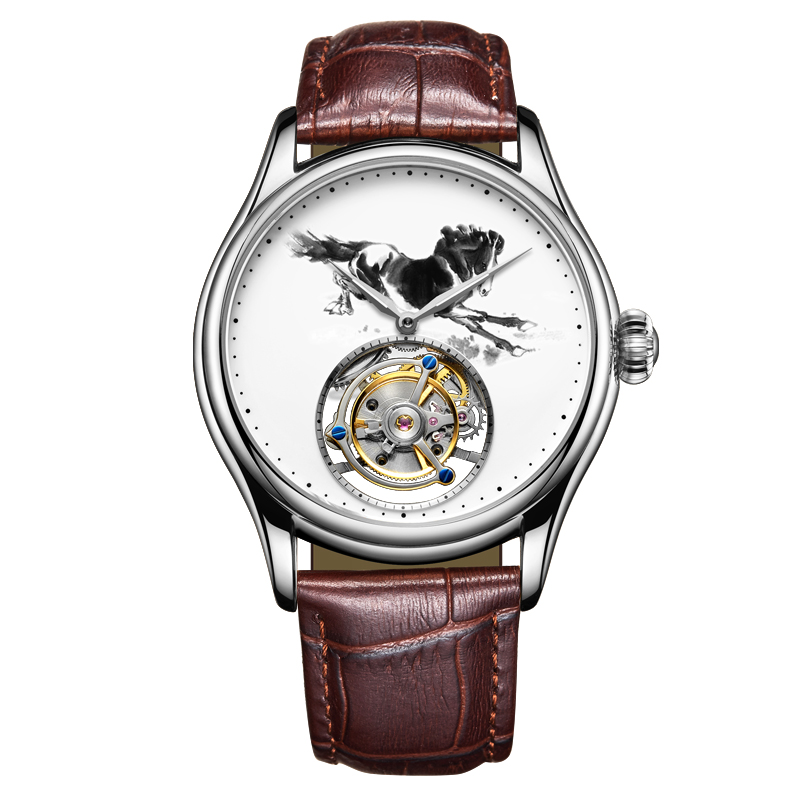 Fashion Personality Supply High-end Tourbillon Customized Horse Hollow Automatic Mechanical  Leather Mens Watch Relojes HombreFashion Personality Supply High-end Tourbillon Customized Horse Hollow Automatic Mechanical  Leather Mens Watch Relojes Hombre