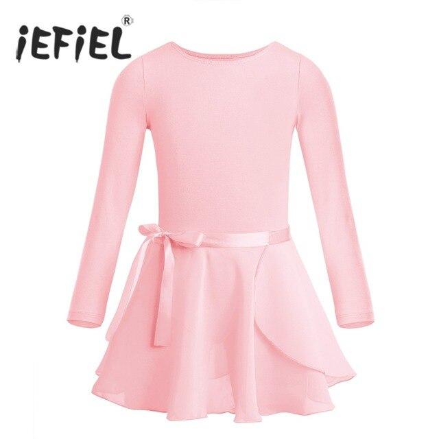 Niños Niñas Ballet Tutu competencia mono clase de baile trajes de gimnasia  leotardo ropa con atada 498606b8d49