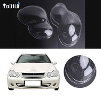 For Mercedes Benz W203 C Class 01 07 1pair Headlight Lampshade Right Left Lens Shell Cover