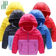 купить Winter jacket kids Boy Hooded Thicken Long Sleeve Cotton down jacket for girls Outerwear Coats Children warm Parkas Clothing дешево