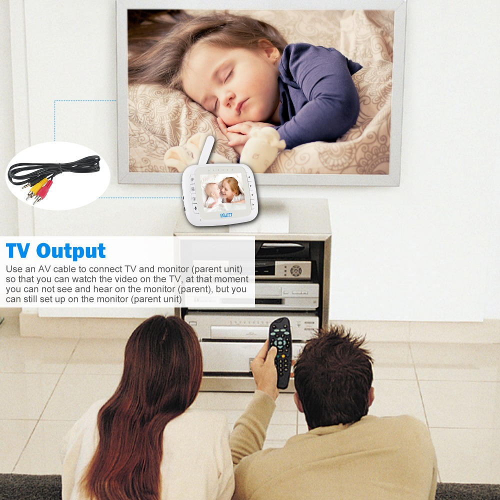 3.5LCD Digital Wireless Video Baby Monitors Infrared night vision babyfoon camera Remote PTZ Video Baby Camera electronic baba