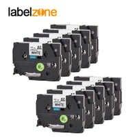 10 pcs Compatible for brother label tape Tze-231 Tze231 tze 231 P-touch label printer Ribbon label maker 12mm*8m Black on white