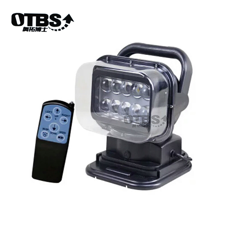 OTBS 360 degree LED Rotating Remote Control Waterproof Work Light Spot 50w led search light For Truck Off road 4x4 Boat